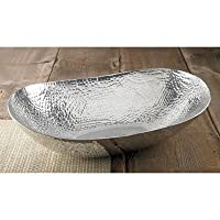 KINDWER Extra Large Hammered Oval Bowl, 22-Inch, Silver by KINDWER [並行輸入品]