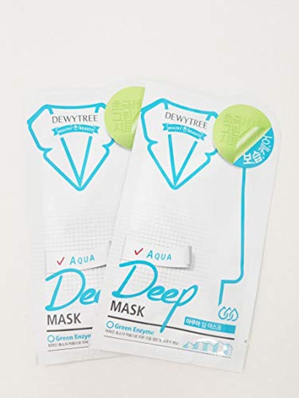 前件ベイビー告発者(デューイトゥリー) DEWYTREE アクアディープマスク 20枚 Aqua Deep Mask 韓国マスクパック (並行輸入品)