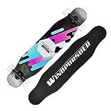 スケートボードツール ビッグフィッシュプレートブラッシュストリートボードボーイとガールブラッシングストリートダンスボード大人二重ワープロード四輪スケートボード小旅行フィッシュプレートアウトドアスポーツベストギフト (Color : Black, Size : 110x25cm)