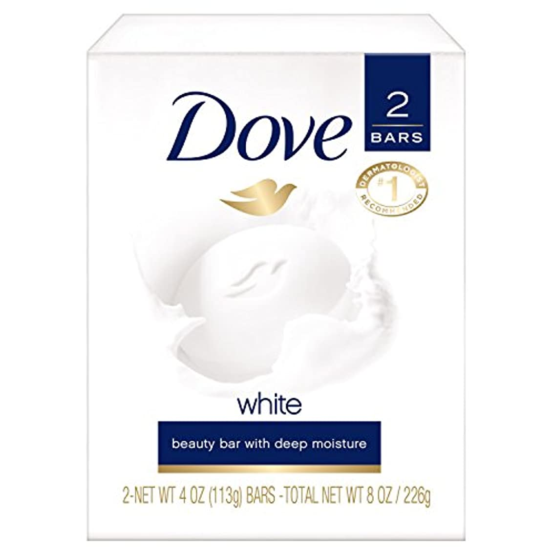 エキス苦しめる南Dove White Beauty Bar Soap, White 4 oz, 2 ea by Dove