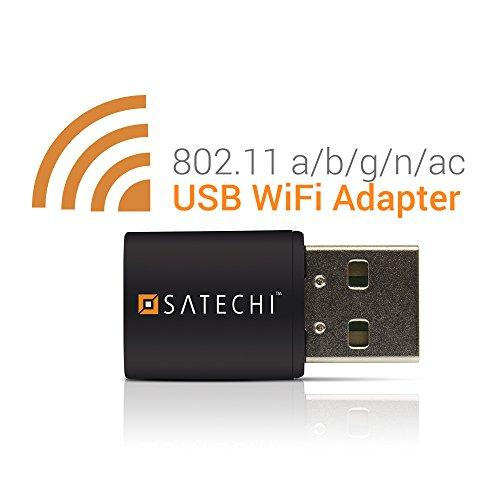 Satechi ワイヤレス USB mini Wi-Fi アダプター 無線LAN子機 デュアルバンド IEEE 802.11 a/b/g/n/ac Windows XP/Vista/7/8/8.1/10対応