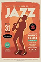 Retro Jazz Music Notebook-6x9 100 Pages Journal