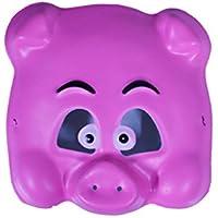 バラエティ本舗 ピンク ブタ お面 [ かぶりもの 仮面 マスク EVA樹脂 アニマル 動物 豚 ピグ ぶた 仮装 子供 キッズ なりきりマスク ]