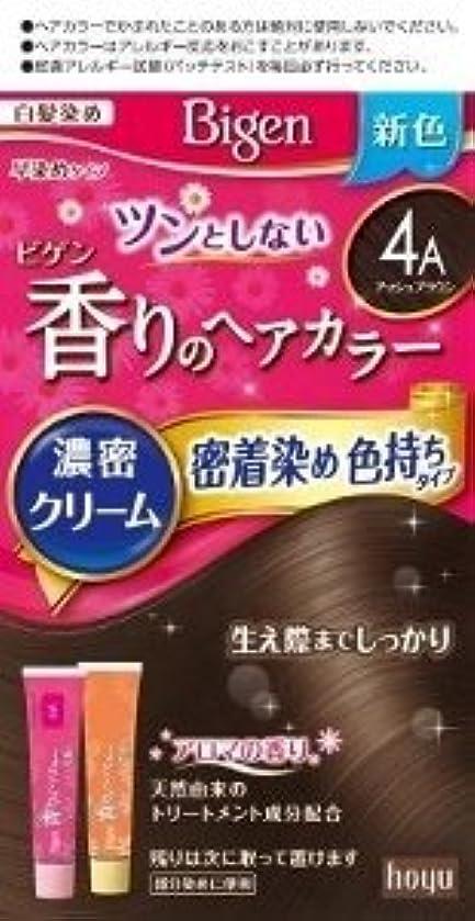 ホーユー ビゲン 香りのヘアカラー クリーム 4A (アッシュブラウン)×6個