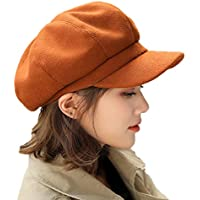 Elonglin Women Berets Newsboy Hat Artist Hats Autumn-Winter Visors Imitation Woolen British Style Fashion Vintage Elegant Baker Boy Flat Caps