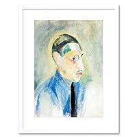 Painting Portrait Delaunay Composer Igor Stravinsky Framed Wall Art Print ペインティングポートレート壁