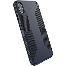 Speck iPhone Xs Max Presidio Grip Case, 10-Foot Drop Protected iPhone Case with Scratch-Resistant Finish and Protective No-Slip Grip, Eclipse Blue/Carbon Black