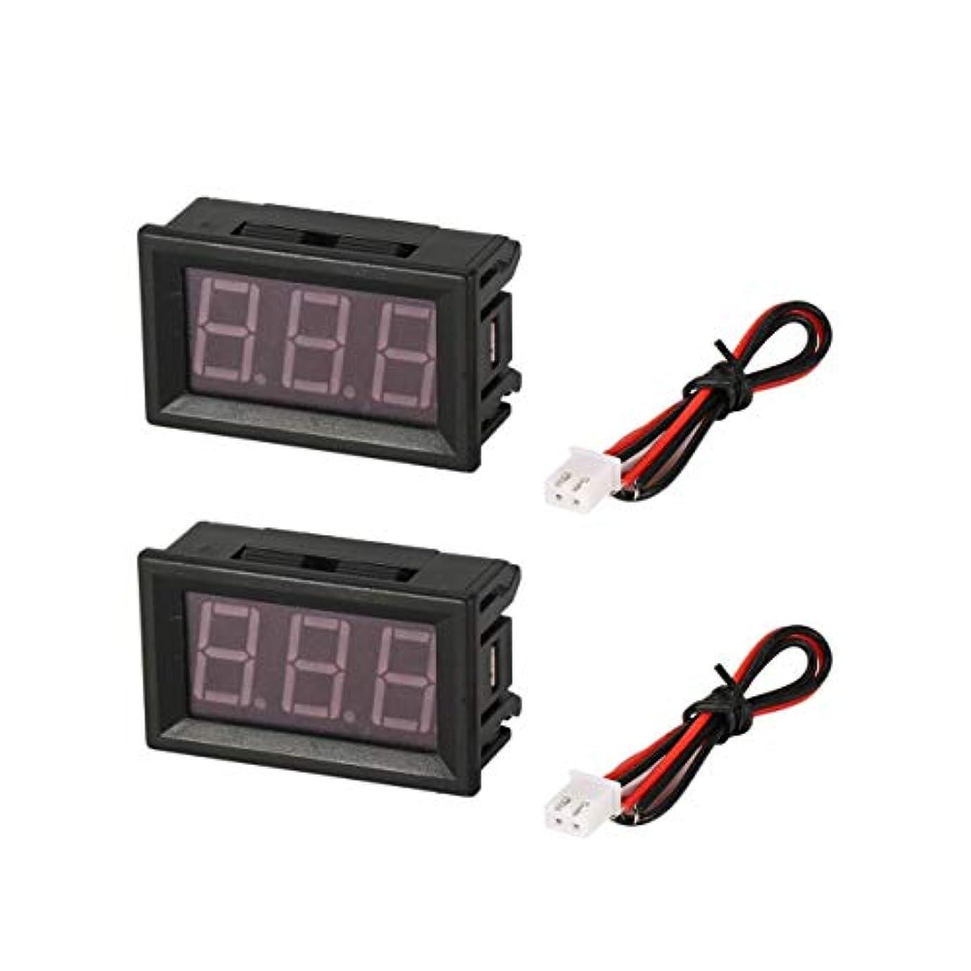 時計溶接編集者2PCS 7-150V 0.56in 3線式LEDデジタル電圧計電圧計カーボルトテスター