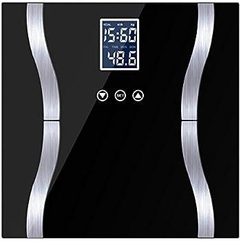 METALBAY 体重計 脂肪計 体組成計 健康管理 ダイエット 体重/体脂肪/体水分/筋肉量/カロリー/推定骨量など測定可能 強化ガラス 乗るだけで電源ON 180kg計量 改良版