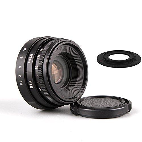 (バシュポ) Pixco Mini CCTVレンズ 25mm f/1.8 Cマウントテレビカメラレンズ - Sony ソニー カメラ +16 mmC型マウントアダプターはNikon 1 J5 J4 S2 V3 AW1 J3 J2 J1 V2 S1 V1カメラに適用しています
