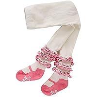Weixinbuy Kids Baby Girls Stocking Tights Pants Cotton Ruffled Soft Fabric Legging Pants Trousers Bottoms