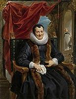 Jacob Jordaens ジクレープリント キャンバス 印刷 複製画 絵画 ポスター(マグダレナデカイパーの肖像)ビッグサイズ 76.6 x 99.1cm