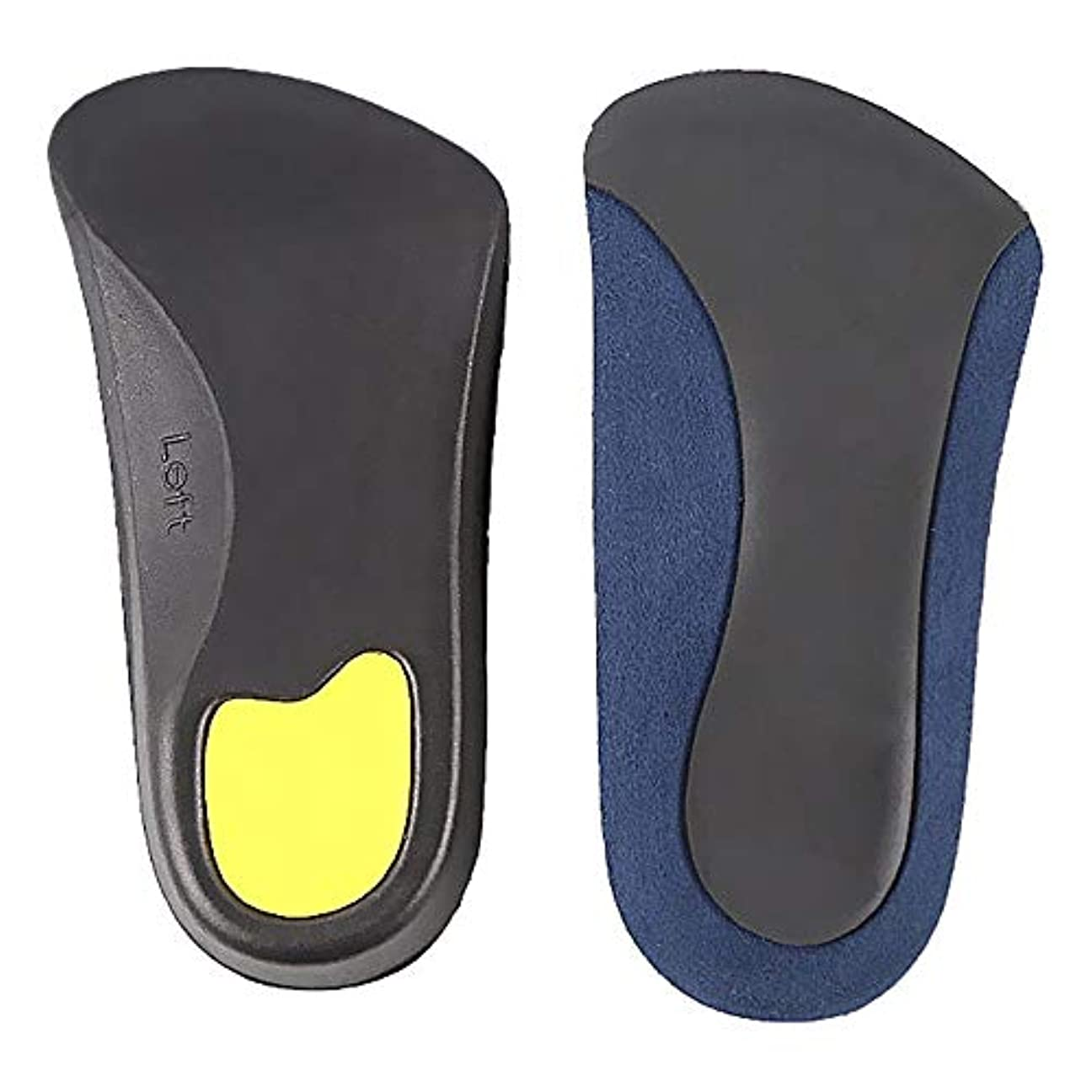 概念名門こだわり矯正インソールアーチサポートインソールトリートメントフラットフット足の痛みを和らげますフィットネス、ランニング、テニス用の通気性のある滑り止めアーチヒール,L
