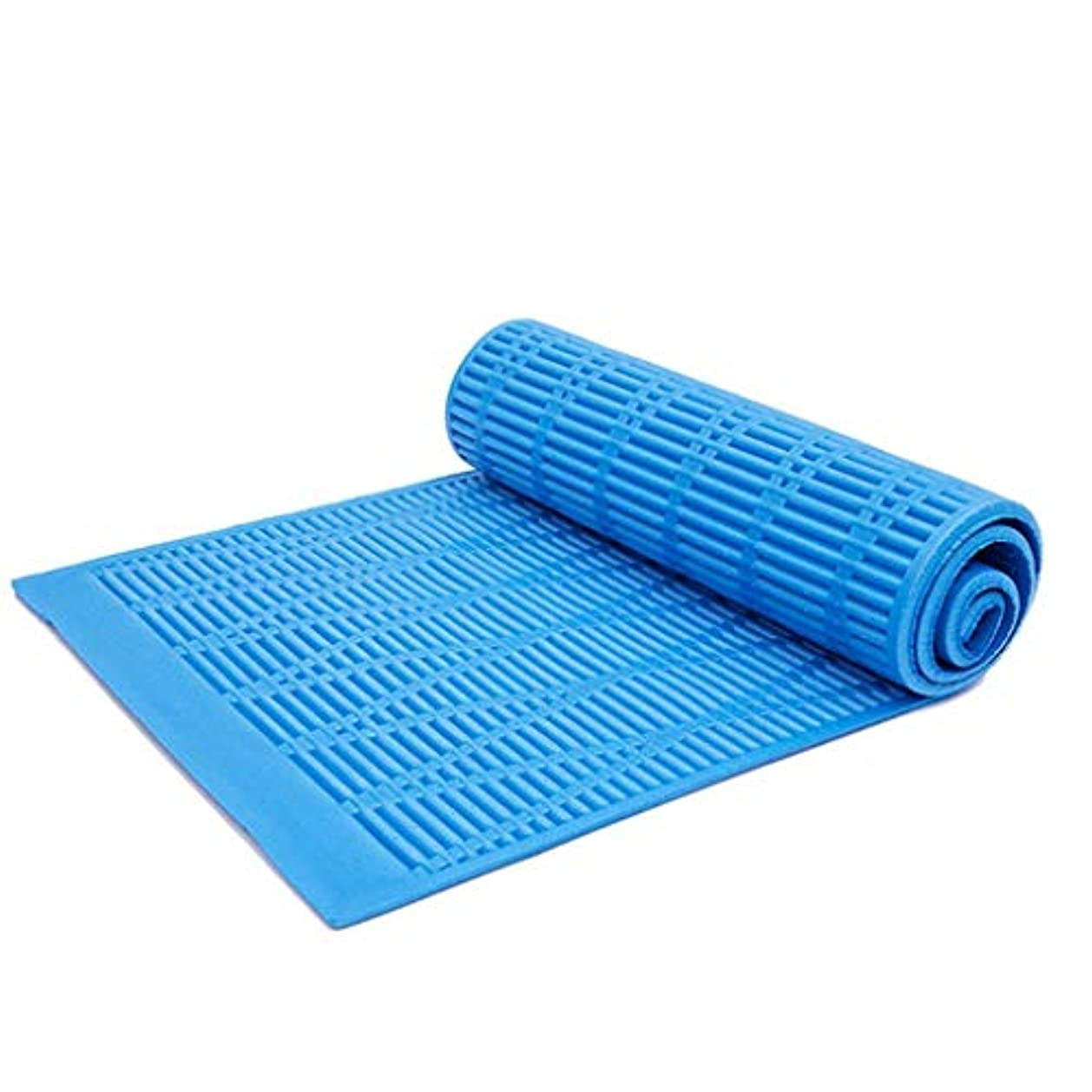 肉空中ディスコパッド入り防水マットポータブル折りたたみパネルテントキャンプ睡眠マットピクニックマット (Color : Blue, Size : 180*56cm)