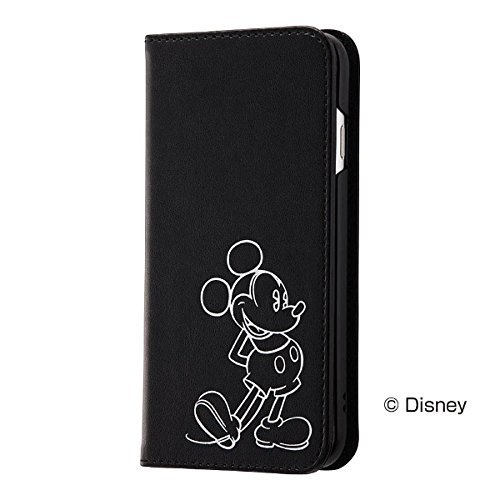 レイ・アウト iPhone 8用 ディズニー/手帳型ケース ホットスタンプ/ミッキー RT-DP14...