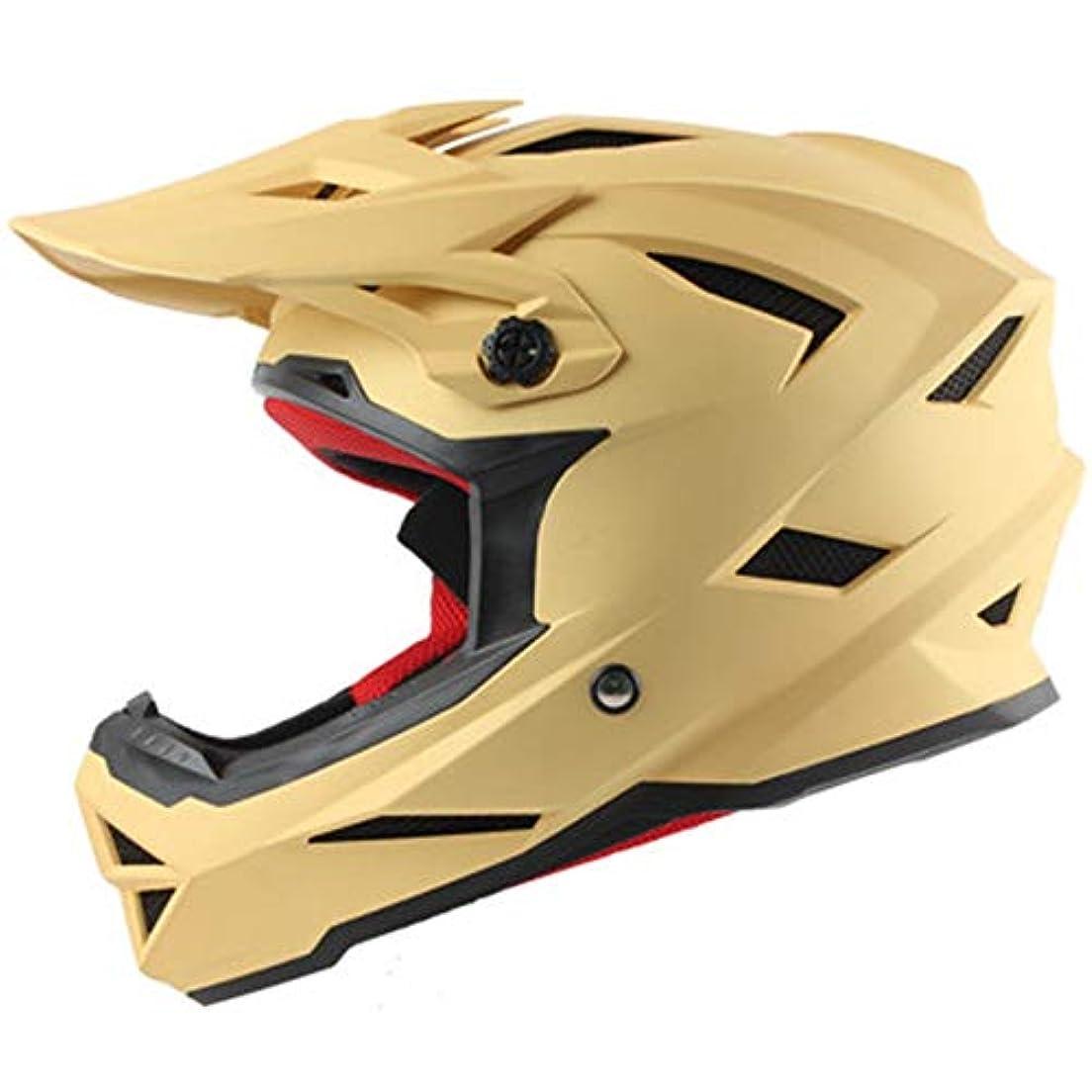 一握り木製構造Safety 超軽量BMXフルフェイスダウンヒルヘルメットモトクロスヘルメットヘルメット赤い山 (色 : Yellow, Size : XL)