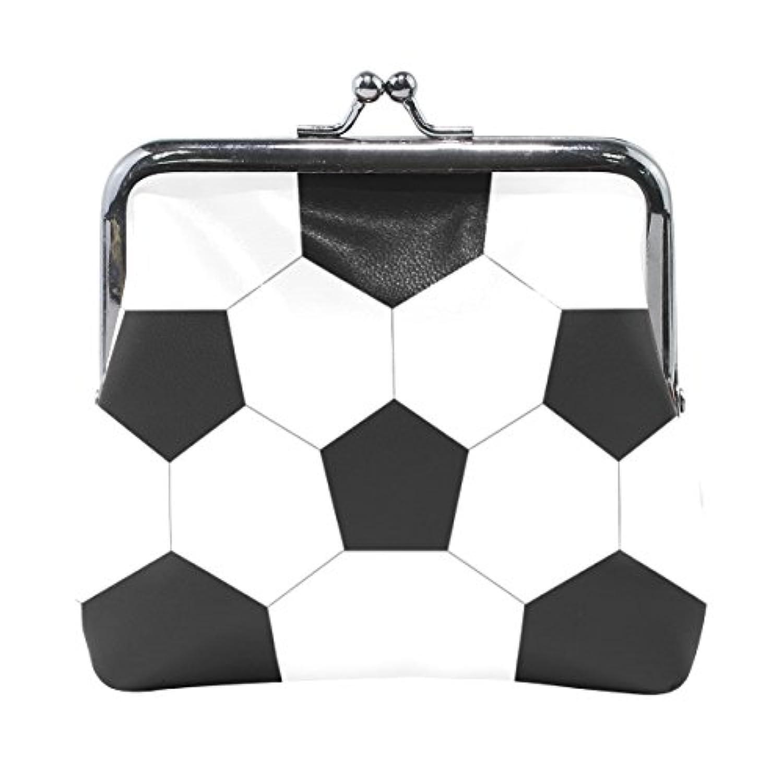 AOMOKI 財布 小銭入れ ガマ口 コインケース レディース メンズ レザー テクスチャ サッカー ボール
