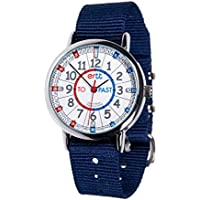 EasyRead Time Teacher Learn The Time Past/To Boys Watch Navy Blue #ERW-RB-PT-NB