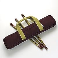 篠笛・横笛ソフトケースV6 肩掛けベルト付き 佃康史プロデュース 選べる4色!6本入sonido (エンジ)