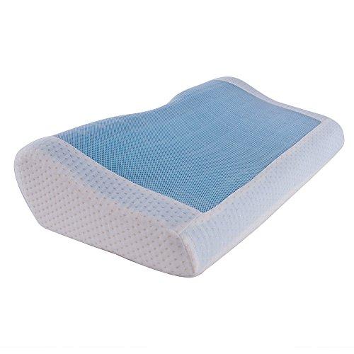 (OSLEEP)65D低反発高密度ジェルピロー枕 蝶型超フィット枕 カバー洗えるTechnogel pillow (アイボリー)