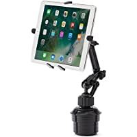 サンワダイレクト iPad タブレット 車載ホルダーアーム カップホルダー/ドリンクホルダー設置 7~11インチ対応 10.5インチ iPad Pro / 9.7インチ iPad(2017) 対応 200-CAR043