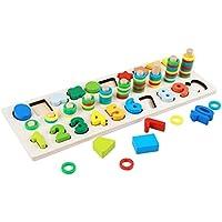 QXMEI おもちゃ 子供 2~3歳 知識番号 男の子 知育 パズル 組み立てブロック 赤ちゃん 女の子 男の子 4~6歳のおもちゃ