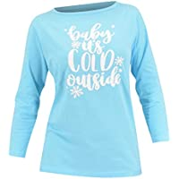 Unique Baby Women Baby It's Cold Outside Christmas Long Sleeved T Shirt