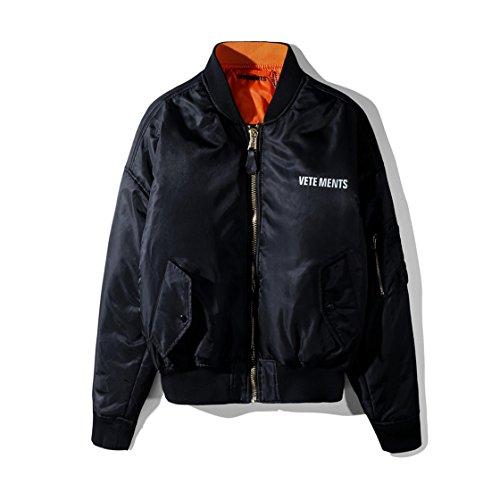 VETEMENTS ヴェトモン ジャケット ボンバージャケットミリタリージャケット 無地 防寒 コート ブルゾン 厚手 韓国風 メンズ ジャケット 綿服 両面着