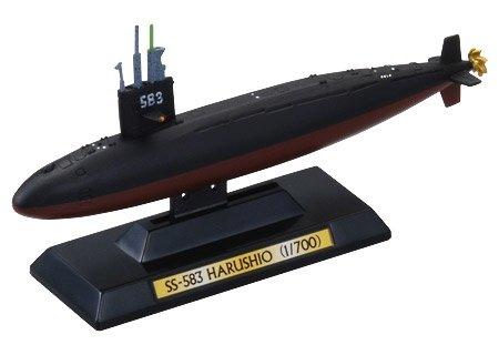 1/700 タカラ 世界の艦船 亡国のイージス 渥美バージョン 01 潜水艦はるしお型 はるしお 単品