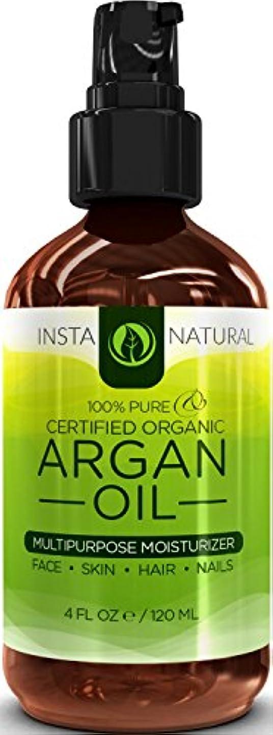 優しいオーガニックゴムInstaNatural Organic Argan Oil For Hair, Face, Skin & Nails - 100% Pure & EcoCert Certified Organic Argan Oil Multipurpose Moisturizer, 4 Fluid Ounce 髪、顔、皮膚niアルガン油オイル  並行輸入品