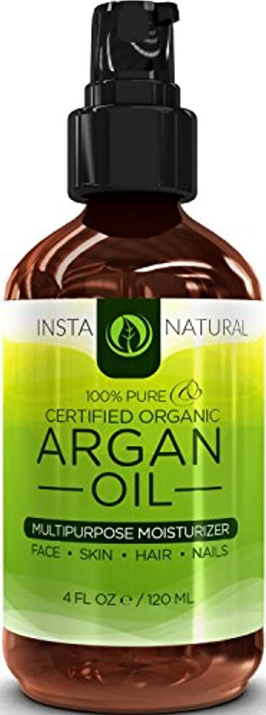 望遠鏡エコービリーInstaNatural Organic Argan Oil For Hair, Face, Skin & Nails - 100% Pure & EcoCert Certified Organic Argan Oil...