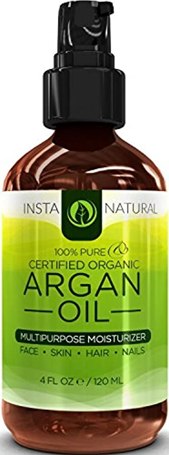 開拓者起こる蛾InstaNatural Organic Argan Oil For Hair, Face, Skin & Nails - 100% Pure & EcoCert Certified Organic Argan Oil...