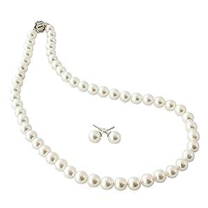 【花珠級貝パール】本真珠に比べ汗や化粧品に強くお手入れも簡単、この価格からは考えられない品質と満足感を。こだわりの、シンプルな貝パールのネックレスは、年齢やファッションに左右される事がないベーシックで一本は持ちたいアイテム。長く、大事にお使い頂けます。花珠級貝パールは、光沢に優れ、形状、色彩、照り感、装着感、どれをとっても「高級花珠本真珠」と変わらないほどの質感を再現しております。花珠級貝パールの魅力は、上品でつややかな照り。深みのある光沢がお顔の表情までも明るく上品に映してくれます。経年劣化で...
