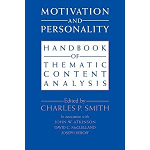 Motivation and Personality: Handbook of Thematic Content Analysis