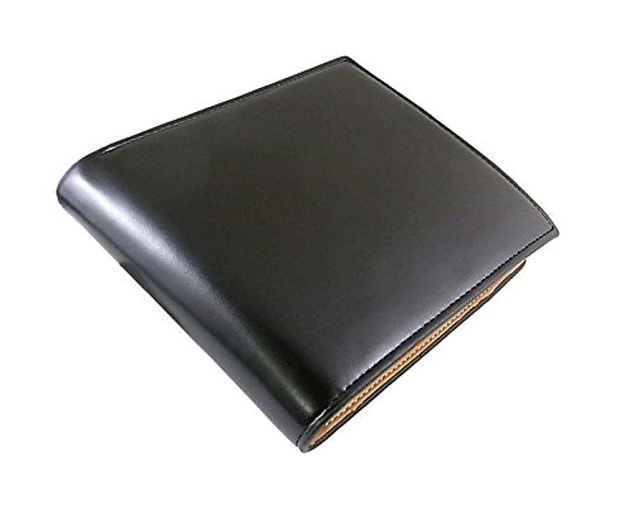 マルコポーロ持続的平和的【Bogesi Leather】紳士用◆短財布(2つ折財布)◇黒◇牛革本革◇メンズ 紳士用 男性用◇TG-2323 bk