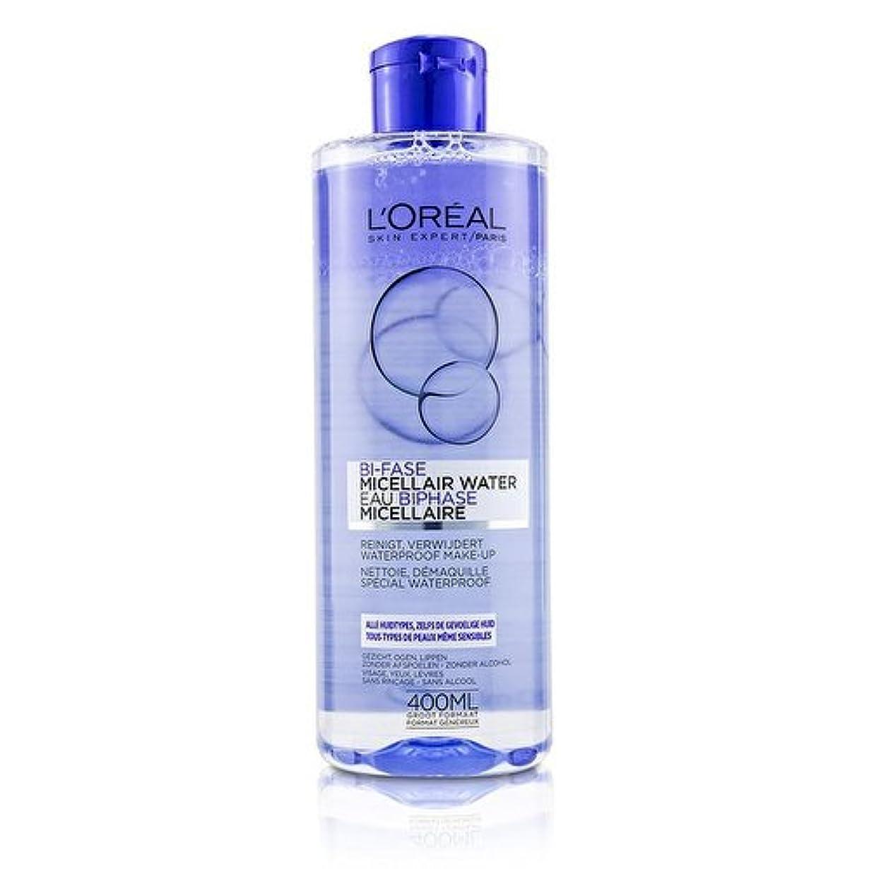 チャンピオンテレビカタログロレアル Bi-Phase Micellar Water (Bi-Fase Micellair Water) - For All Skin Types, even Sensitive Skin 400ml/13.3oz並行輸入品