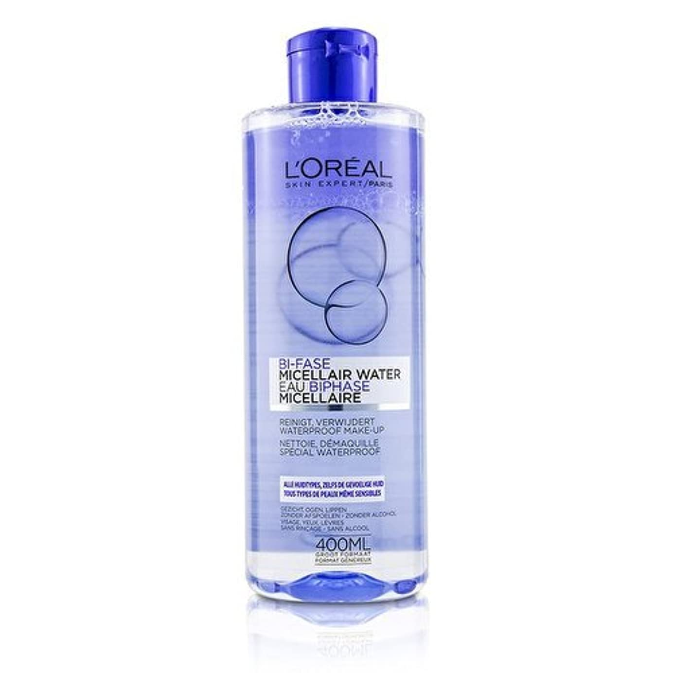 ロレアル Bi-Phase Micellar Water (Bi-Fase Micellair Water) - For All Skin Types, even Sensitive Skin 400ml/13.3oz並行輸入品