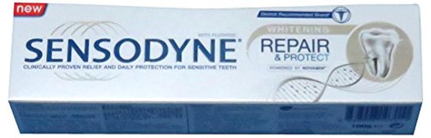 ブルクレデンシャル不潔SENSODYNE Whitening REPAIR & PROTECT 100g センソダイン ホワイトニング リペアー&プロテクト 100g [並行輸入品]