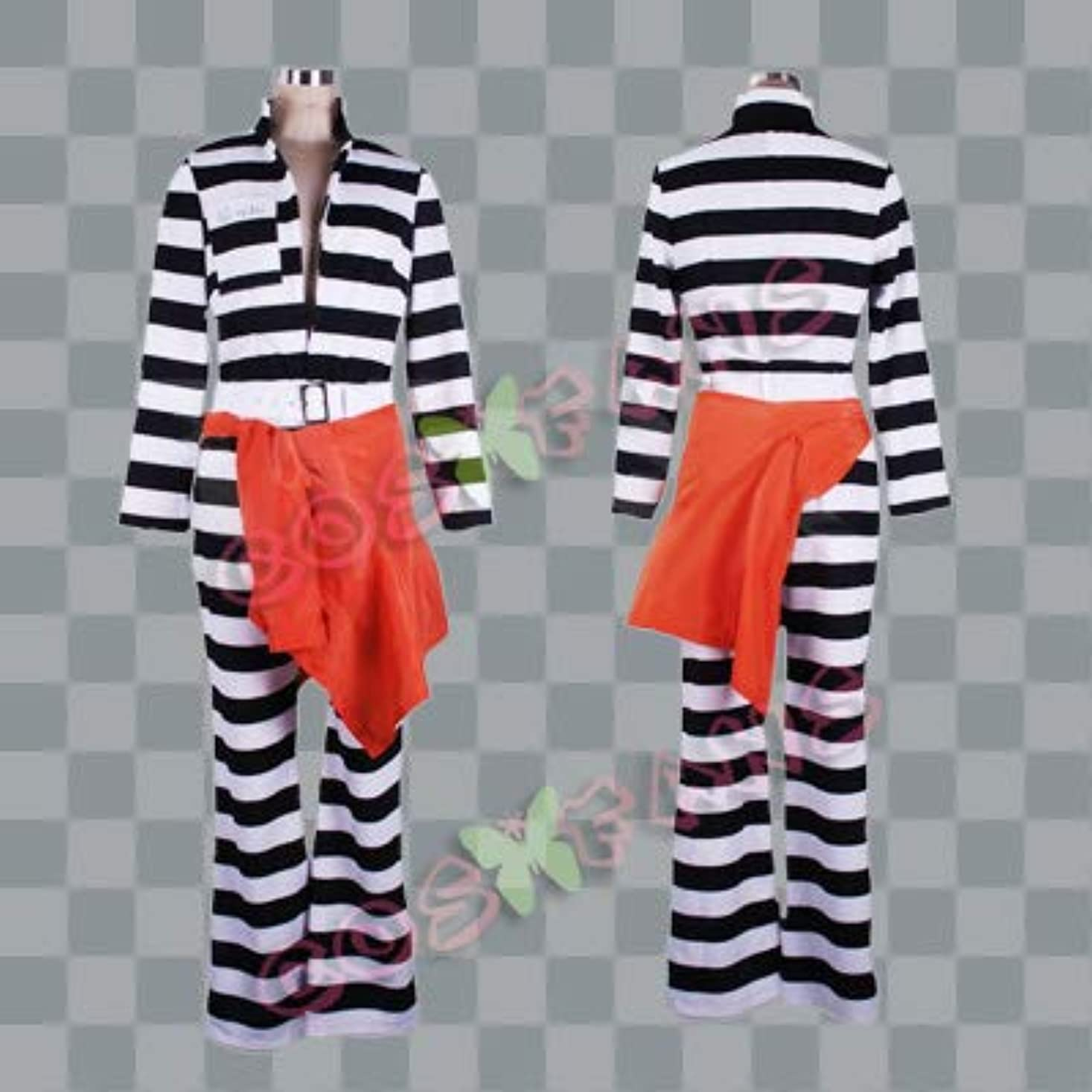マトロンなしでセクタ407ラッキードッグ1 ルキーノ囚人服コスプレ衣装(男性XL)