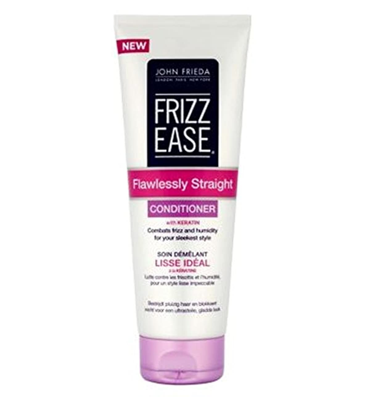 John Frieda Frizz-Ease Flawlessly Straight Conditioner 250ml - ジョン?フリーダ縮れ-容易完璧ストレートコンディショナー250Ml (John Frieda)...