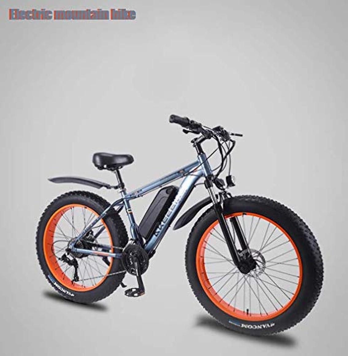 聖職者吐き出すまどろみのある大人のメンズ電気マウンテンバイク、リムーバブル36V 13AHリチウム電池、350Wビーチ雪バイク、アルミ合金オフロード自転車、26インチホイール