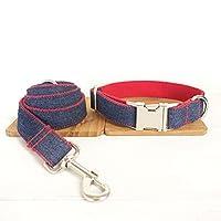 Zhhlaixing 耐久性のある ペット 犬 鉛の鎖 スリップ 鉛 and 調節可能 犬 襟 ペット Traction Set For ウォーキング トレーニング(UDC/L 035-044)