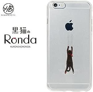 &y HB 【iPhone6s Plus / iPhone6 Plus 両対応】 5.5インチ ソフトTPUケース キャラクター ネコ IMD光沢印刷 黒猫のRonda(ロンダ) A クリア