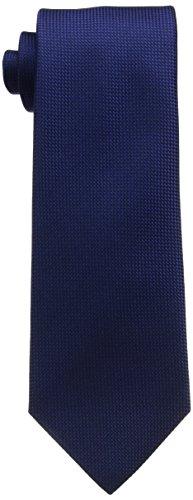 (フェアファクス) FAIRFAX(フェアファクス) ソリッドバスケット織ネクタイ SLD03 インディゴ F