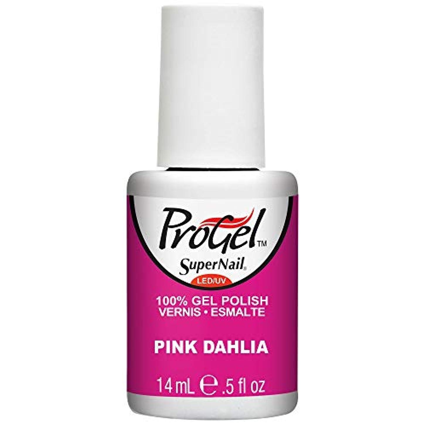 聴衆スモッグプレビスサイトSuperNail ProGel Gel Polish - Pink Dahlia - 0.5oz/14ml