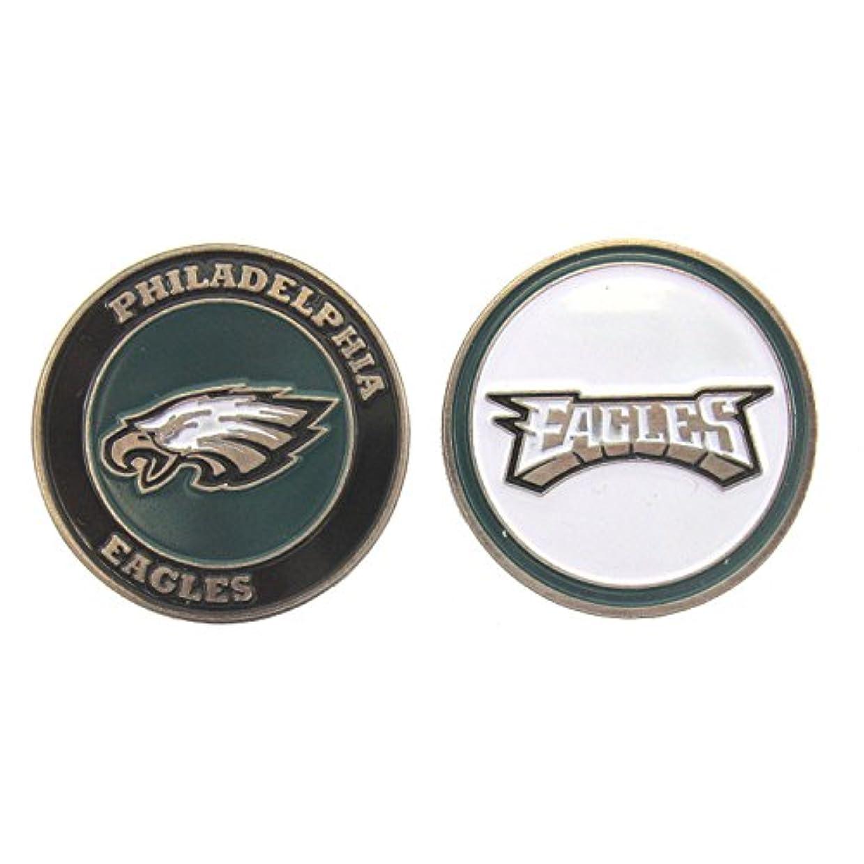 繁栄きれいに大惨事Philadelphia Eagles両面ゴルフボールマーカー