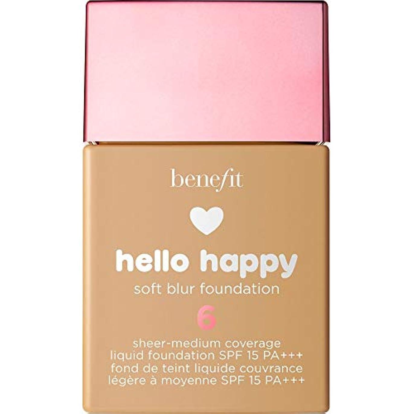 希望に満ちたガイダンスオープニング[Benefit] こんにちは幸せなソフトブラー基礎Spf15 30ミリリットル6に利益をもたらす - 温培地 - Benefit Hello Happy Soft Blur Foundation SPF15 30ml...