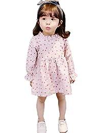 [XINXIKEJI] 子供服 女の子ドレス 子供ワンピース 長袖ドレス 刺繍 お洒落 キッズ服 ガールズ 80CM-90CM-100CM-110CM 1-3歳