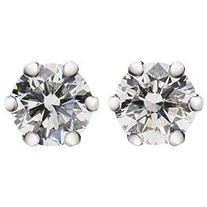 [パッション ダイヤモンド] キャットフィンガー ピアス 0.3ct K10WG