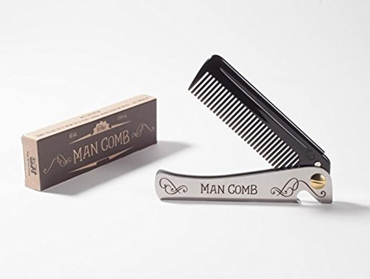 批判的に杭アーネストシャクルトンMan Comb 'Limited Edition'. The Ultimate Tool for your Hair, Beard and Beer. [並行輸入品]